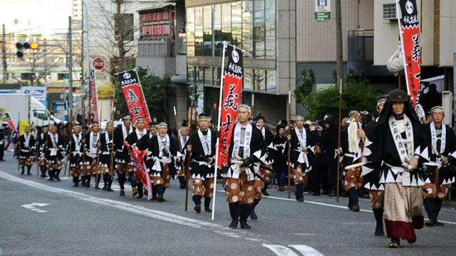 泉岳寺 赤穂義士祭パレード