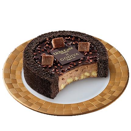 ウチ カフェ×ゴディバ ショコラアイスクリームロールケーキ