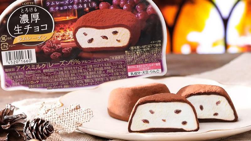 ロッテアイス 濃厚生チョコ ラムレーズン