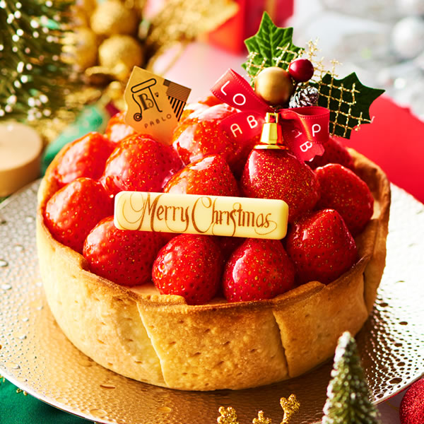 パブロたっぷりいちごのクリスマスチーズタルト