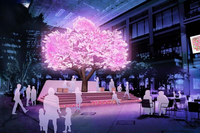 日本橋 桜フェスティバル 灯桜