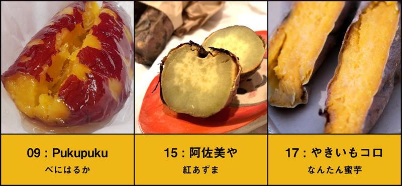 一口焼き芋食べ比べFセット