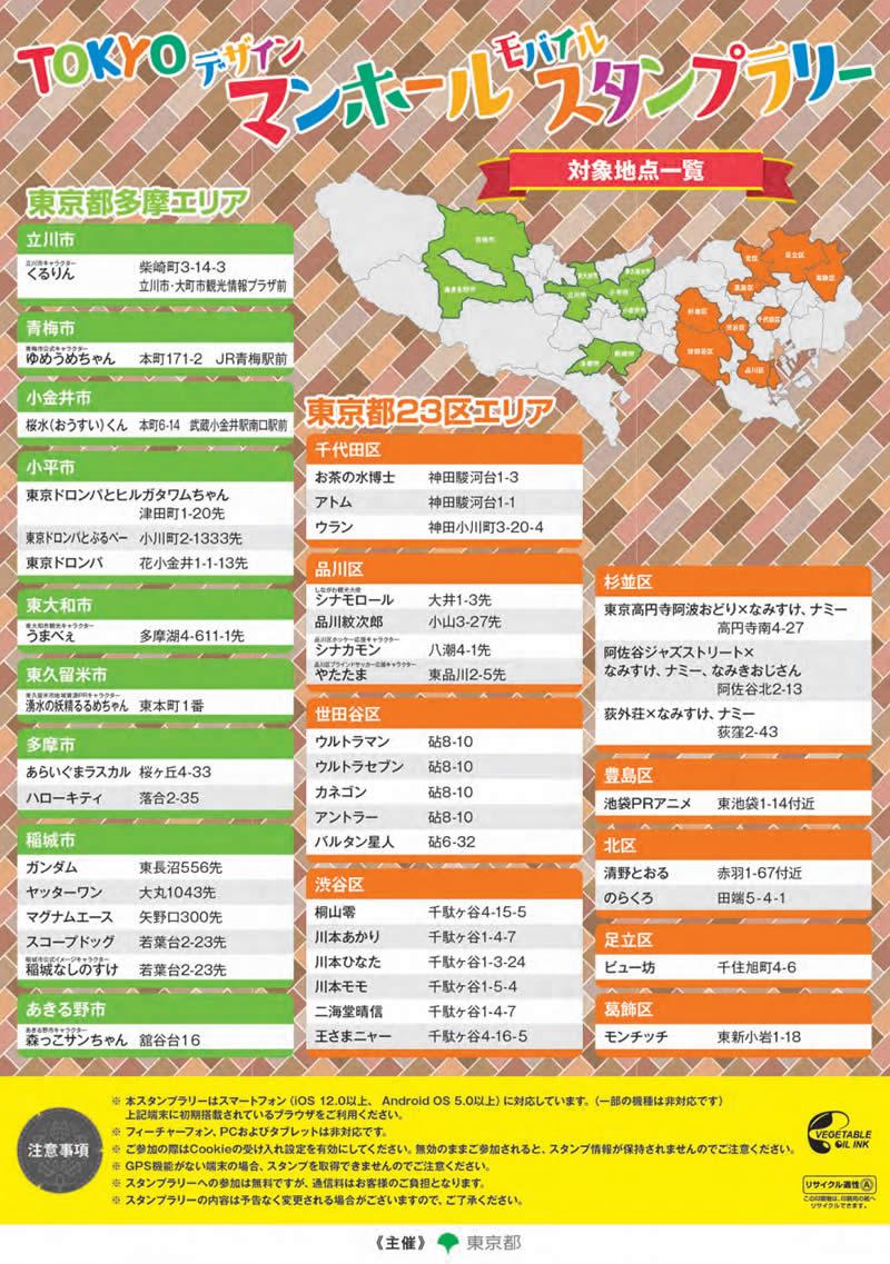 東京マンホールモバイルスタンプラリー