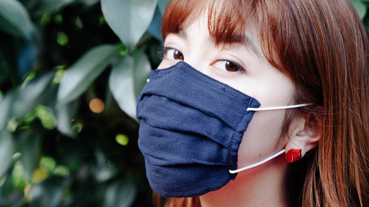 プリーツ付き布マスクの作り方・型紙
