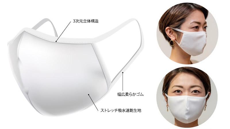 Ms Threeマスク 洗って何度も使える高品質ポリエステルマスク