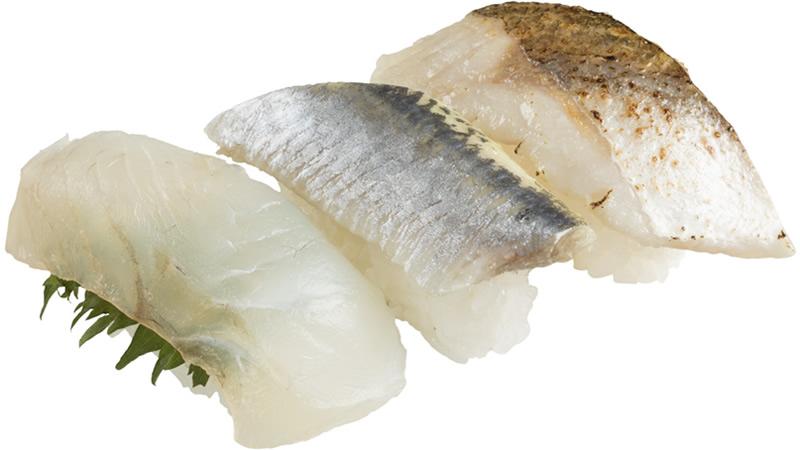 天然魚3貫盛り