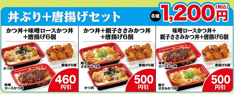 丼ぶり+唐揚げセット