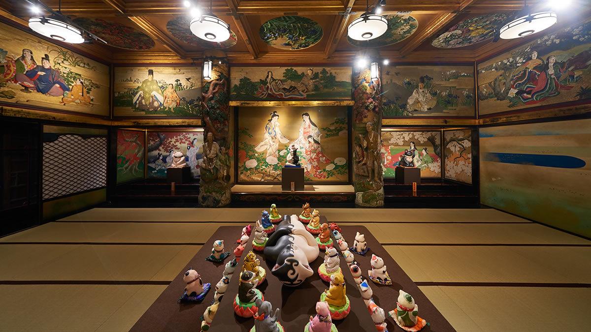 目黒・ホテル雅叙園東京 千の福ねこアート展at百段階段