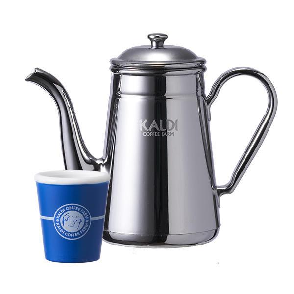 コーヒーポットとカップ