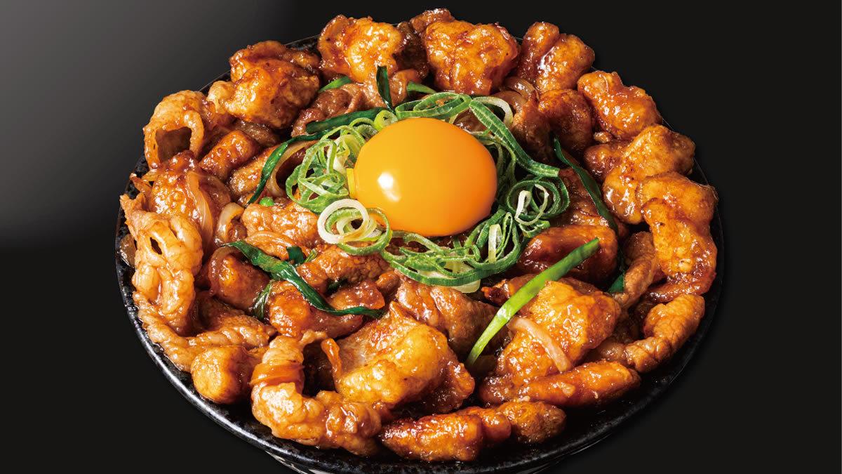 """伝説のすた丼屋「すたみな""""極""""ホルモン丼」"""