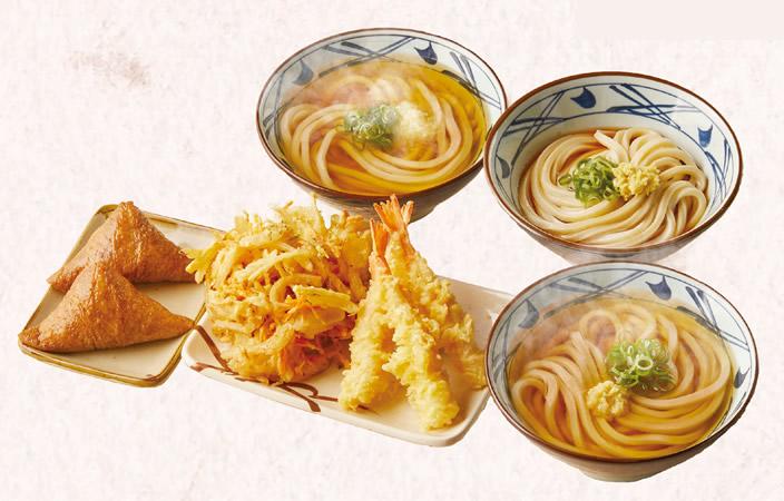 丸亀製麺 冬の打ち立てセット 3人前 1,500円