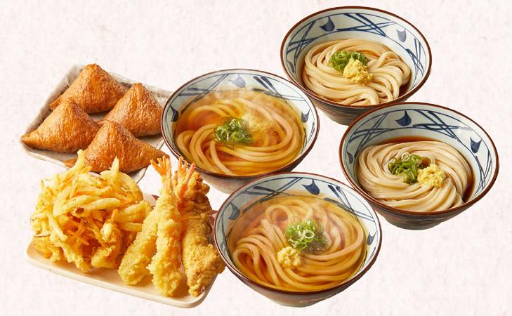 丸亀製麺 冬の打ち立てセット 4人前 2,000円