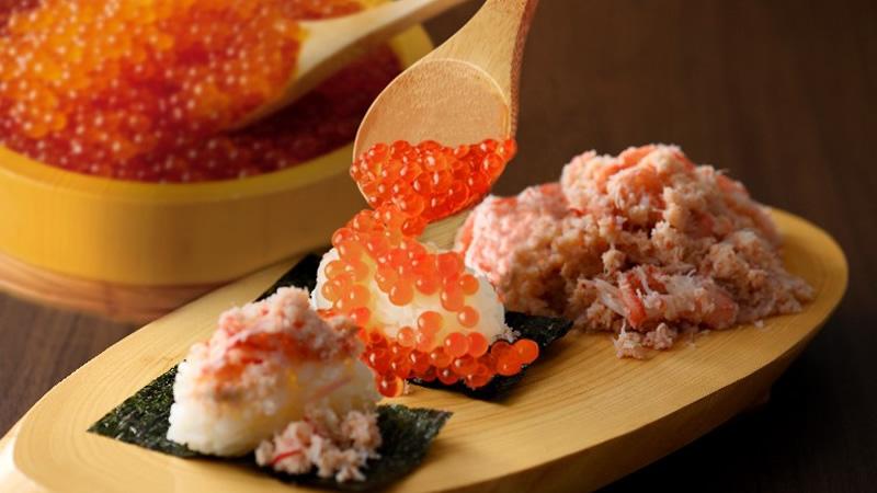 二ラックス いくら&かに寿司食べ放題