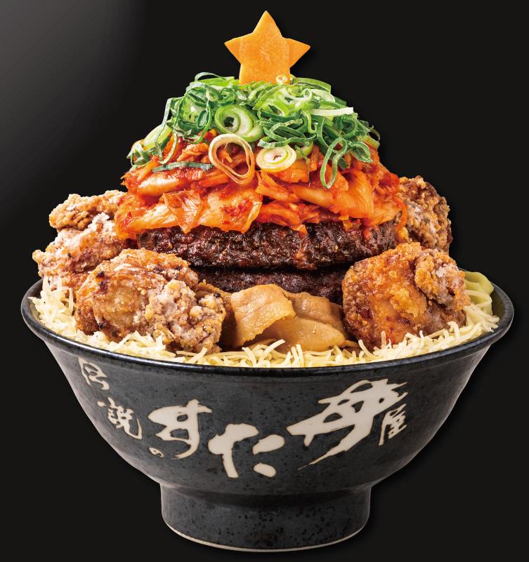 すた丼屋 クリスマス限定「極楽肉ニクにくツリーすた丼」