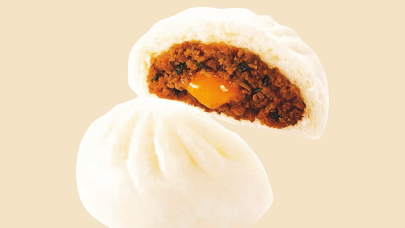 ファミマの中華まん「麺屋はなび監修 台湾まぜそば風肉まん」