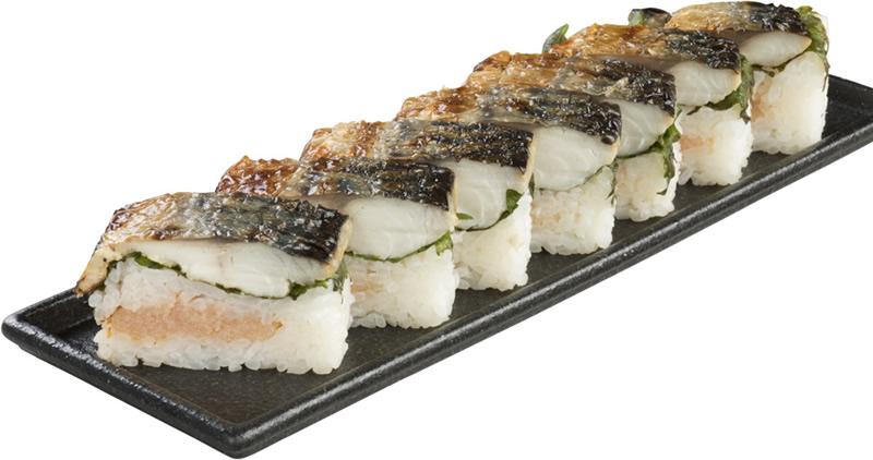 焼き鯖明太押し寿司