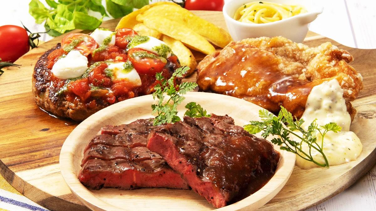 ステーキガスト テイクアウト限定 3種の肉盛りコンボ