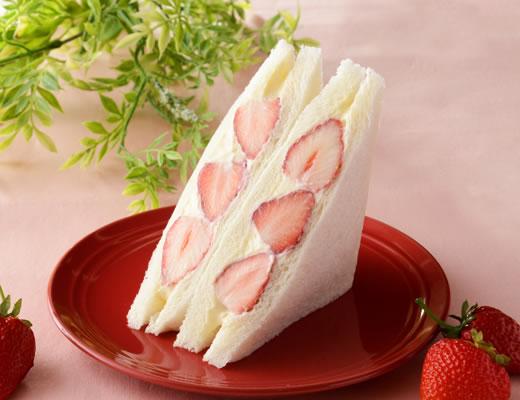 Uchi Café×八天堂 かすたーど苺サンド