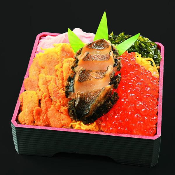 積丹・食堂 海のや「蝦夷あわびうにいくら弁当」2,376円