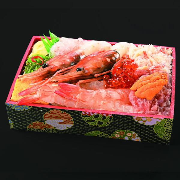 長万部・浜形水産「海老トロえび食べ比べ弁当」2,700円