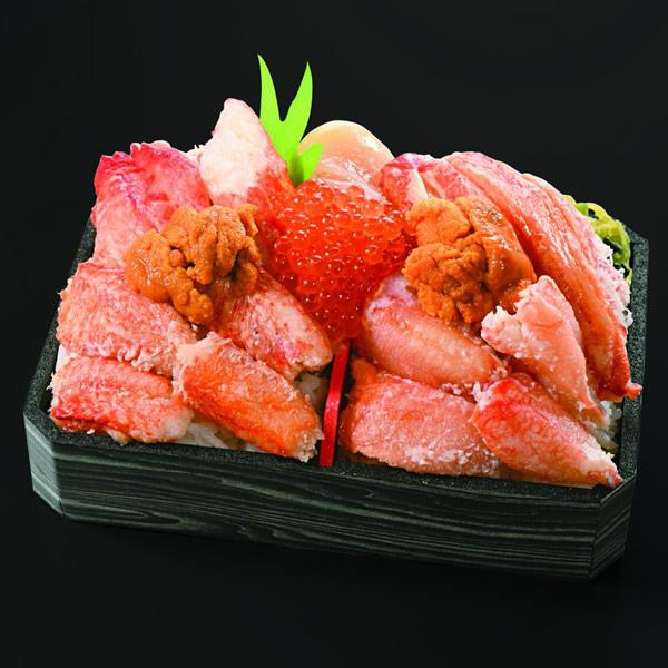旭川・旭川駅立売商会「かに三種食べ比べ」3,780円