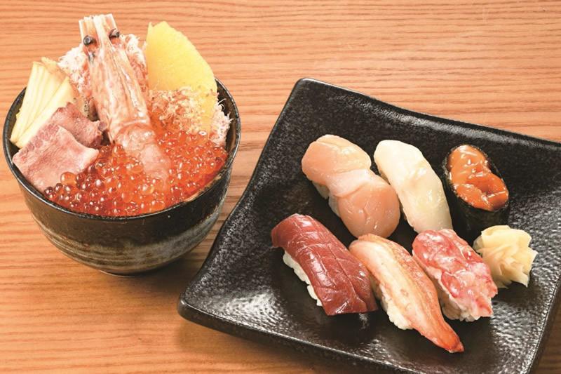 札幌・数馬「蝦夷握りと彩り小丼」(1人前)3,850円
