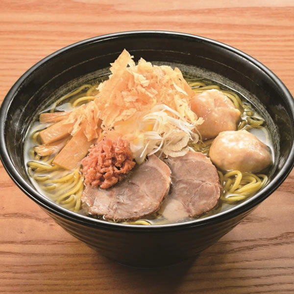 札幌・麺匠赤松「鮭だし白醤油(鮭つみれ入り)」(1人前)1,200円
