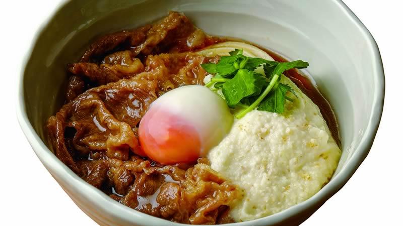 神戸牛と大和芋のとろ玉うどん