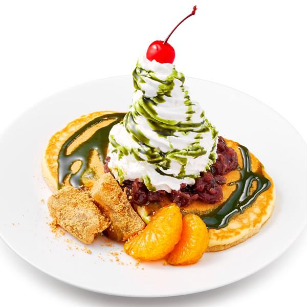 抹茶タワーパンケーキ