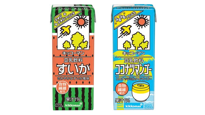 キッコーマン豆乳飲料「すいか」「ココナツマンゴー」