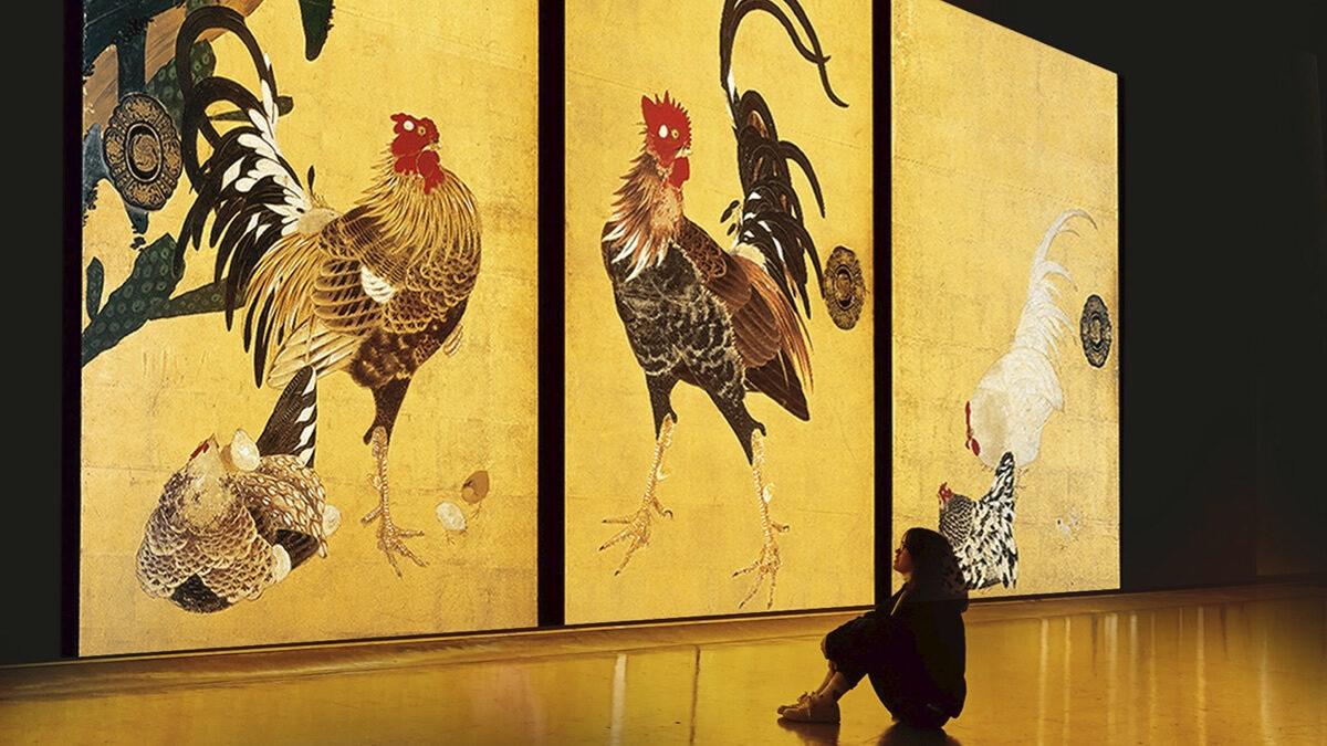 デジタルアート展「巨大映像で迫る五大絵師 −北斎・広重・宗達・光琳・若冲の世界−」
