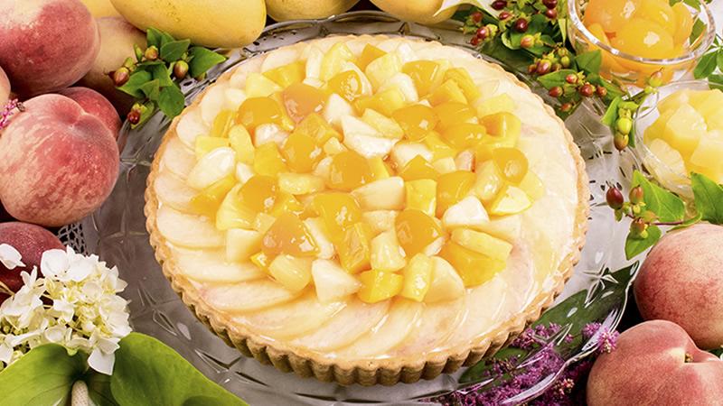 桃と南国フルーツのタルト