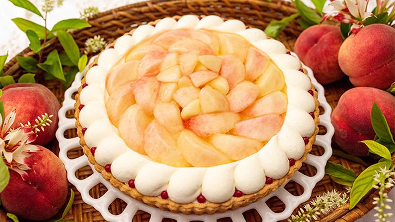 桃のショートケーキタルト