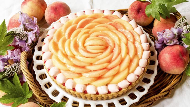 桃とヨーグルトのタルト