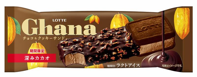 ロッテアイス「ガーナチョコ&クッキーサンド深みカカオ」